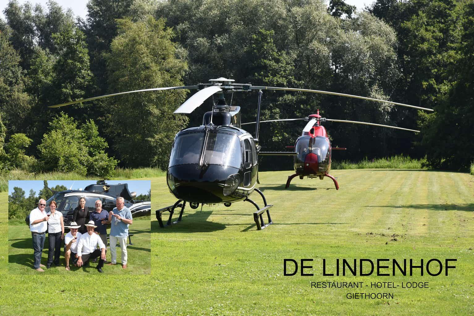 Naar restaurant De Lindenhof per helicopter